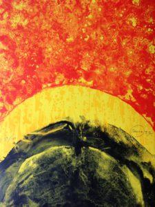 Otto Piene, red quake